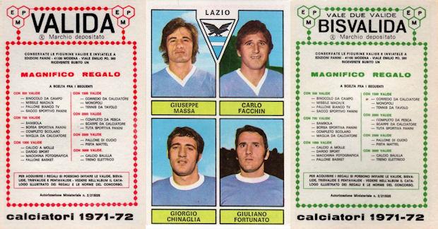 MASSEI Figurina-Sticker ARGENTINA -Rec CALCIATORI PANINI 1970-71