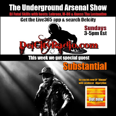 https://www.mixcloud.com/DelCityRadio/the-underground-arsenal-show-with-special-guest-substantial/