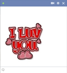 I Luv You Emoticon