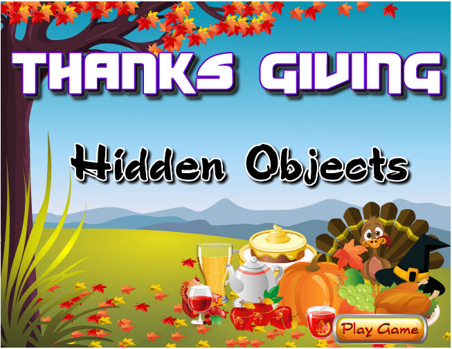 Thanksgiving day funny game hidden objects