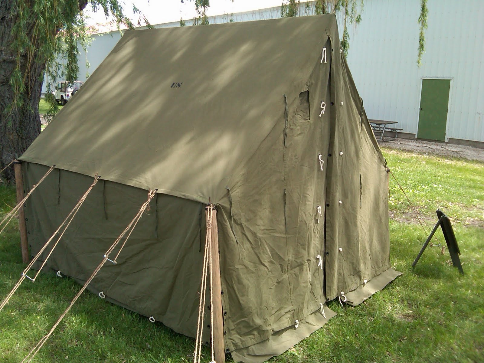 Armbruster Displays Wwii Canvas Tents During Anzio Express