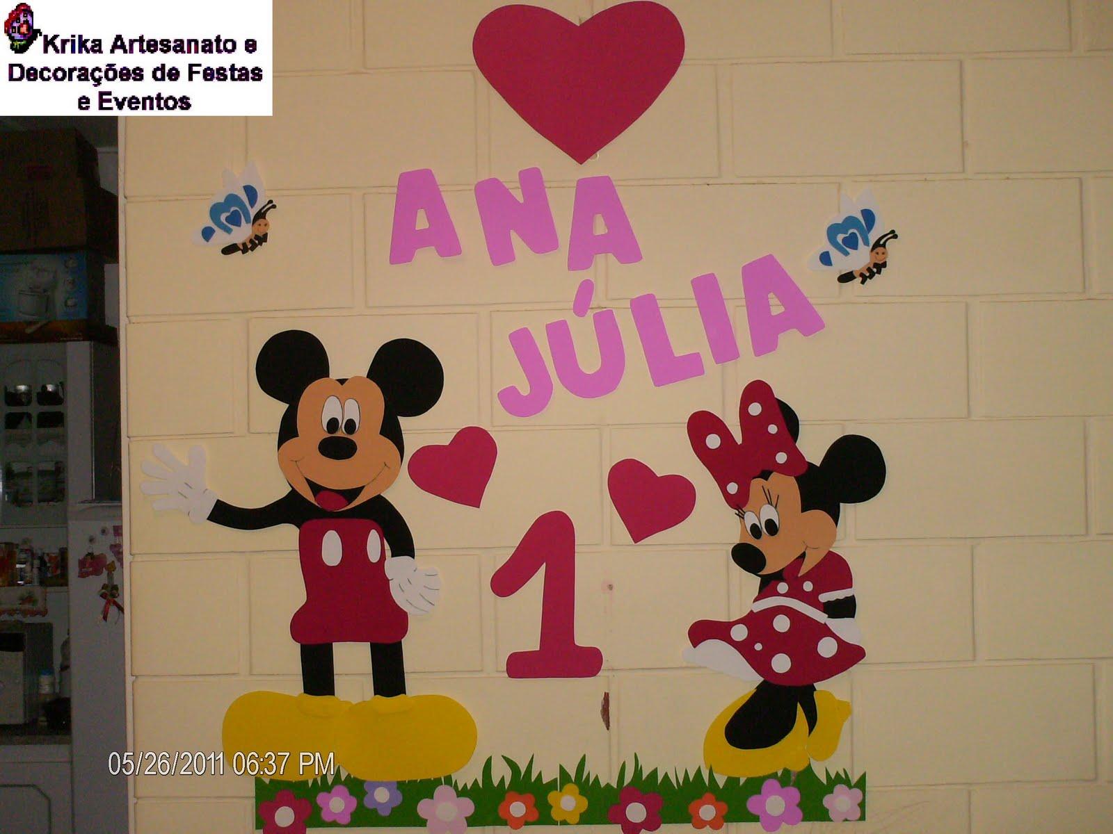 Painel e Lembrancinhas para Festa Infantil Tema Minnie e Mickey