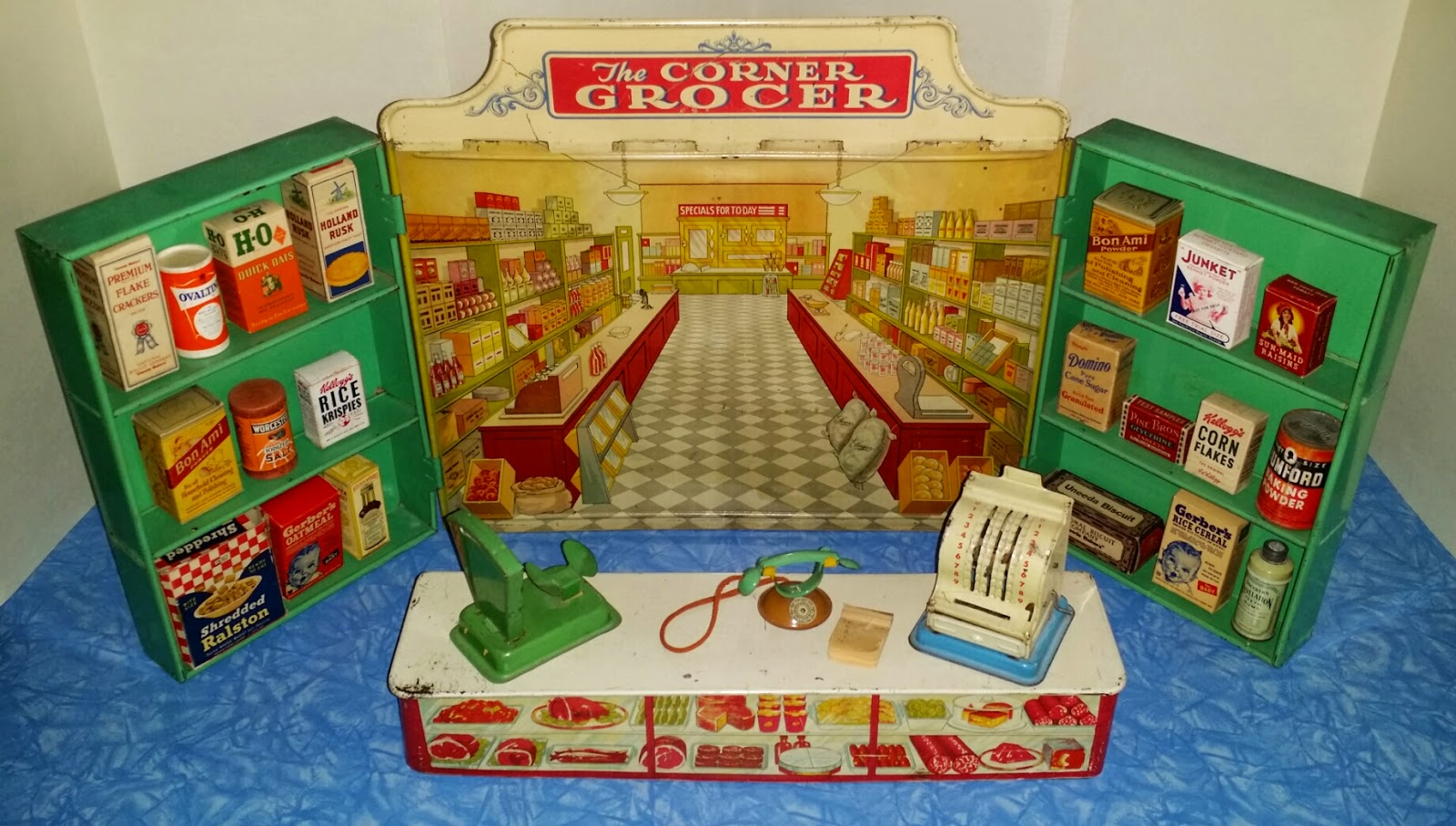 Toys From The 40s : This store known as the corner grocer was made by
