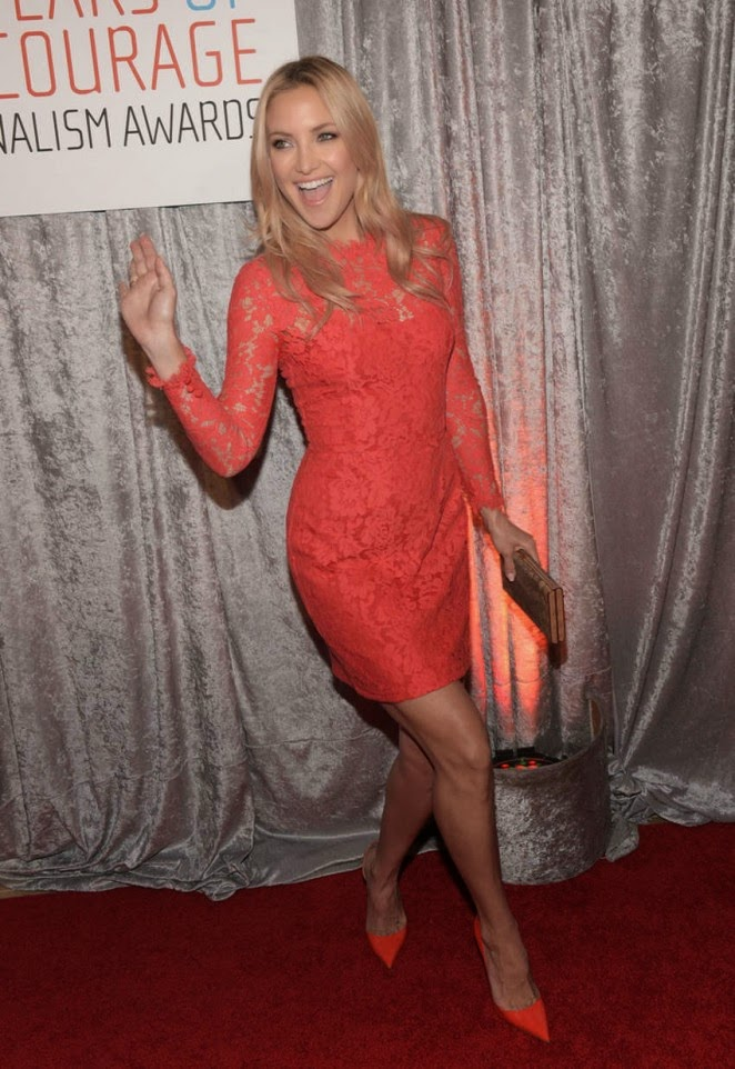 Kate Hudson in a Temperley London lace dress at the 2014 IWMF Courage in Journalism Awards
