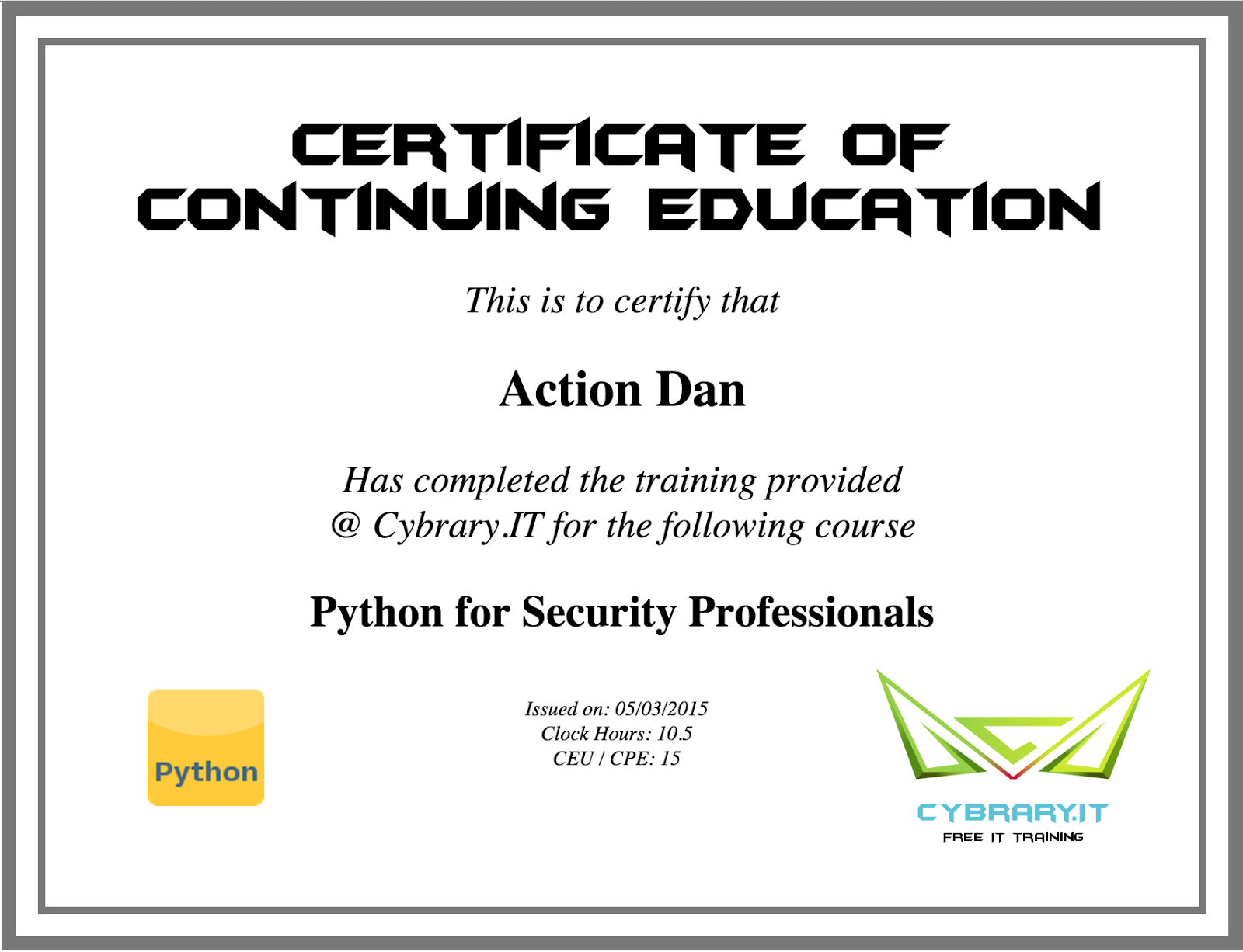 Python for security professionals review cybrary lockboxx however i dont think the certifications are worth anything based on the lack of business logic security preventing anyone from just acquiring the xflitez Image collections