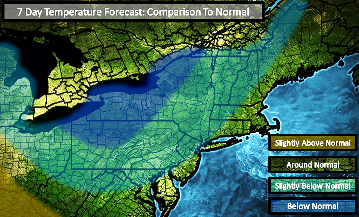 overall the northeast us will see below average precipitation in the middle of it with slightly below average precipitation on the eastern and