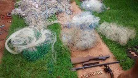 PM apreende materiais utilizados para pesca predatória