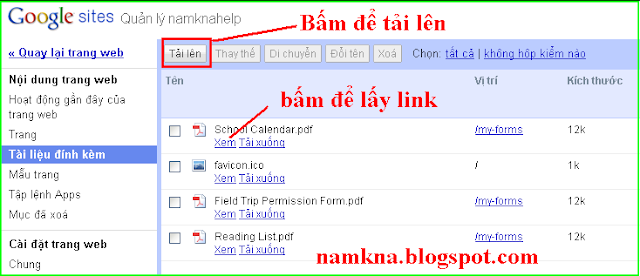 Cách upload file Flash (.swf) lên host Google site và chèn file Flash cho Blog