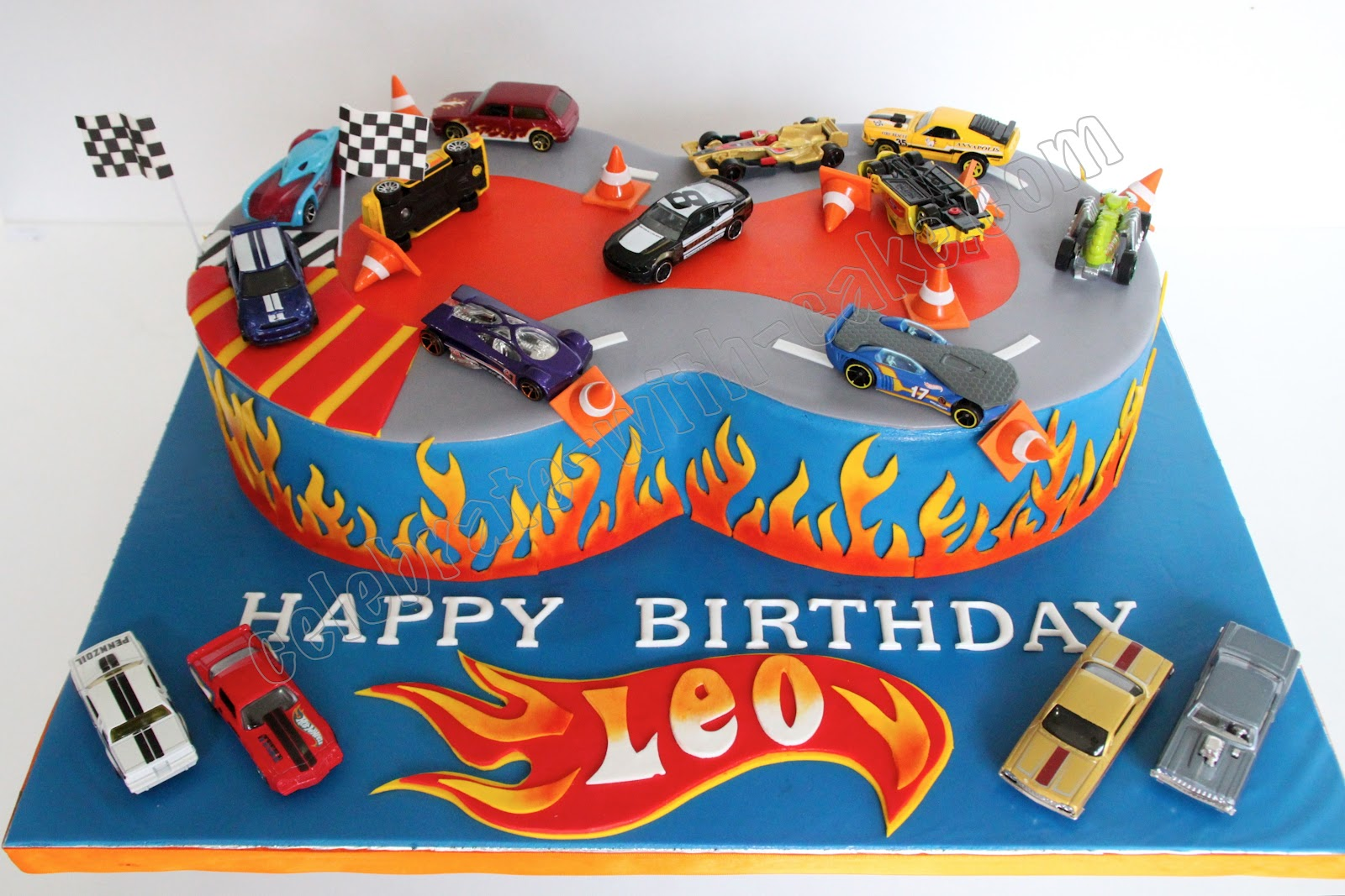 Celebrate with Cake Hot Wheels Cake