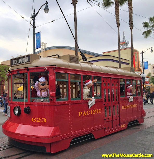 Mickey Mouse on the Red Car Trolley