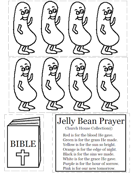 Printable Jelly Bean Prayer Coloring Page