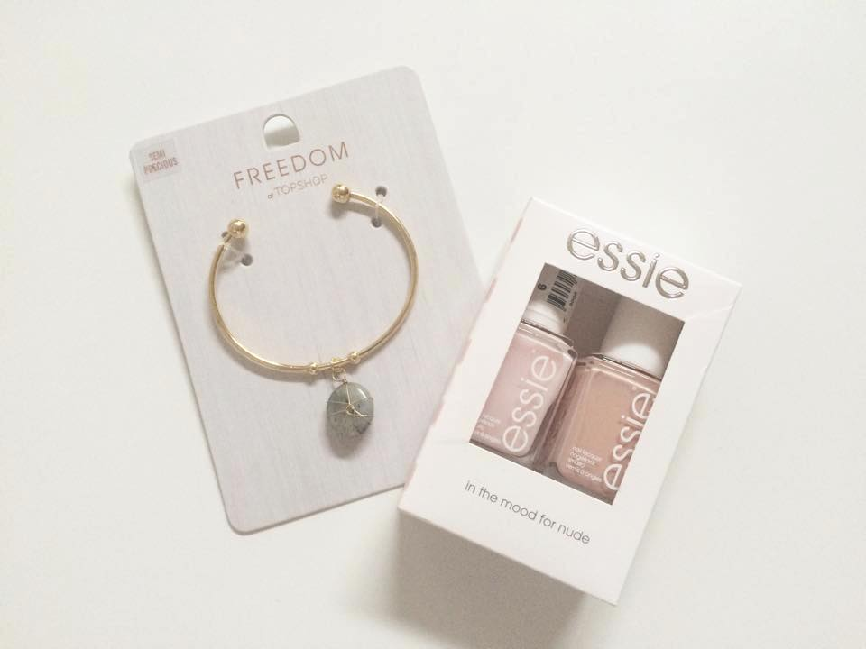 topshop cuff essie nail polish nude giveaway