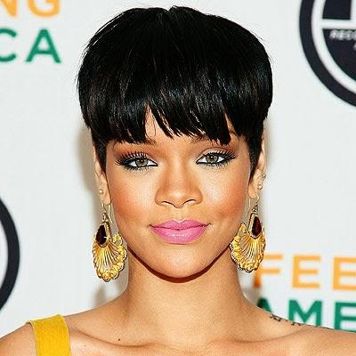 Rihanna Mushroom Haircut