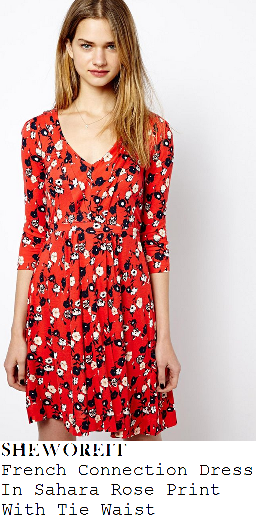 holly-willoughby-red-black-and-white-floral-print-v-neck-dress-this-morning