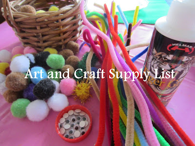 art and craft supplies list