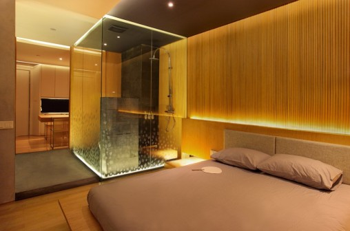 Bedroom With Attached Bathroom Designs