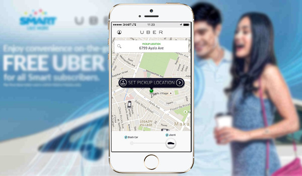 Smart Subscribers will get 2 FREE UBER RIDES within Metro Manila!