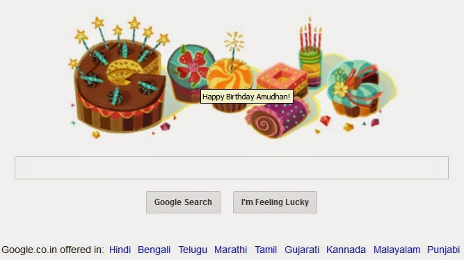 Special Doodle by Google on My Birthday
