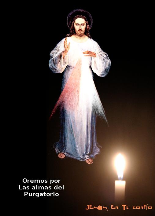 una candela ante jesus misericordia