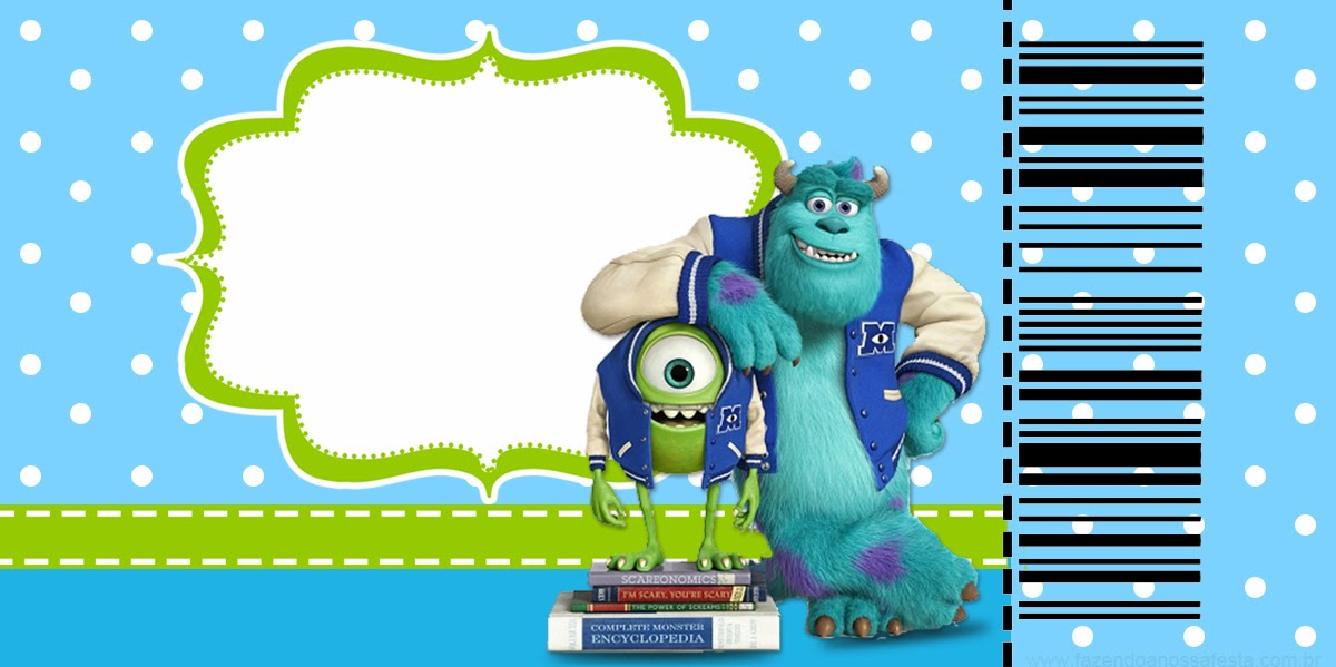 Monsters University Invitations Template Free