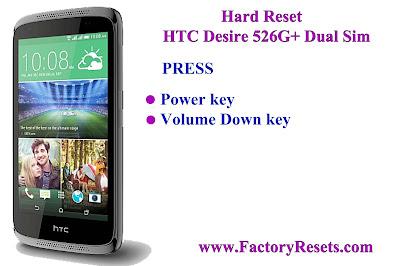 Hard Reset HTC Desire 526G+ Dual Sim