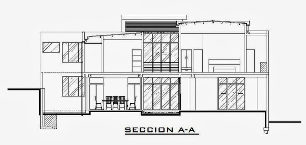 Secci n y alzado ram n torralba d az grado en - Alzado arquitectura ...