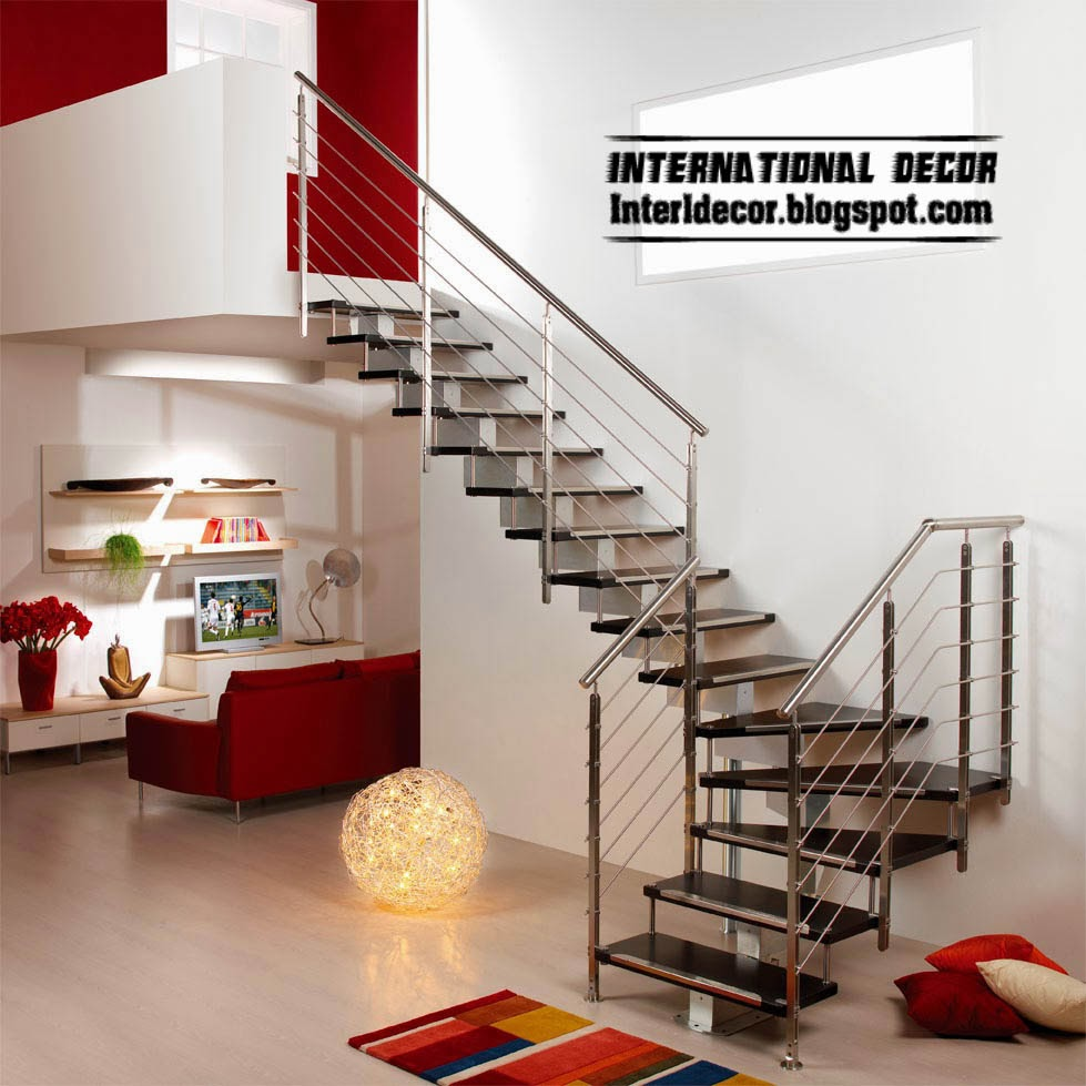 modern staircase design - interior stairs, stainless stair railings