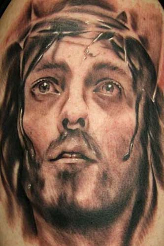 neck tattoo ideas jesus tattoo designs. Black Bedroom Furniture Sets. Home Design Ideas