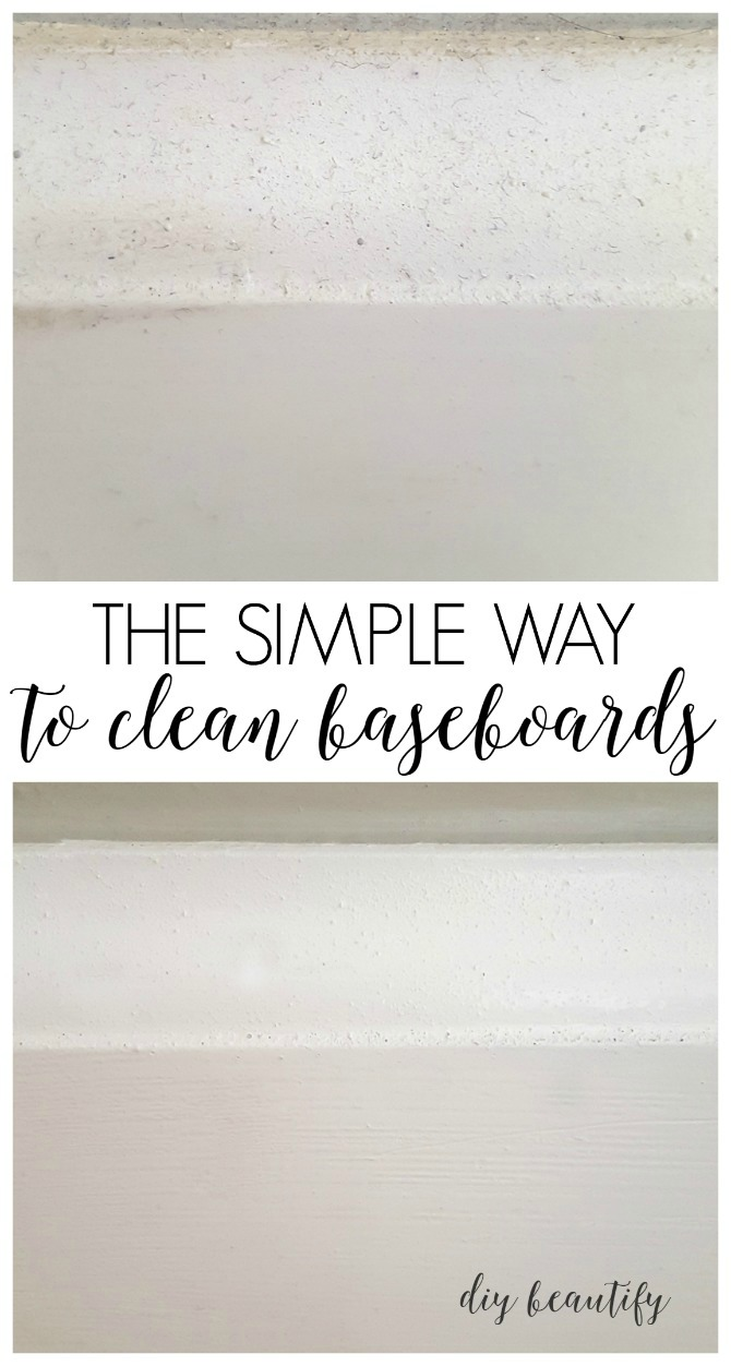 a simple way to clean your dirty baseboards