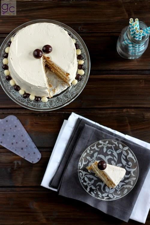 Imagen de la tarta de café con mascarpone por Iratxe Ayala Gallecookies