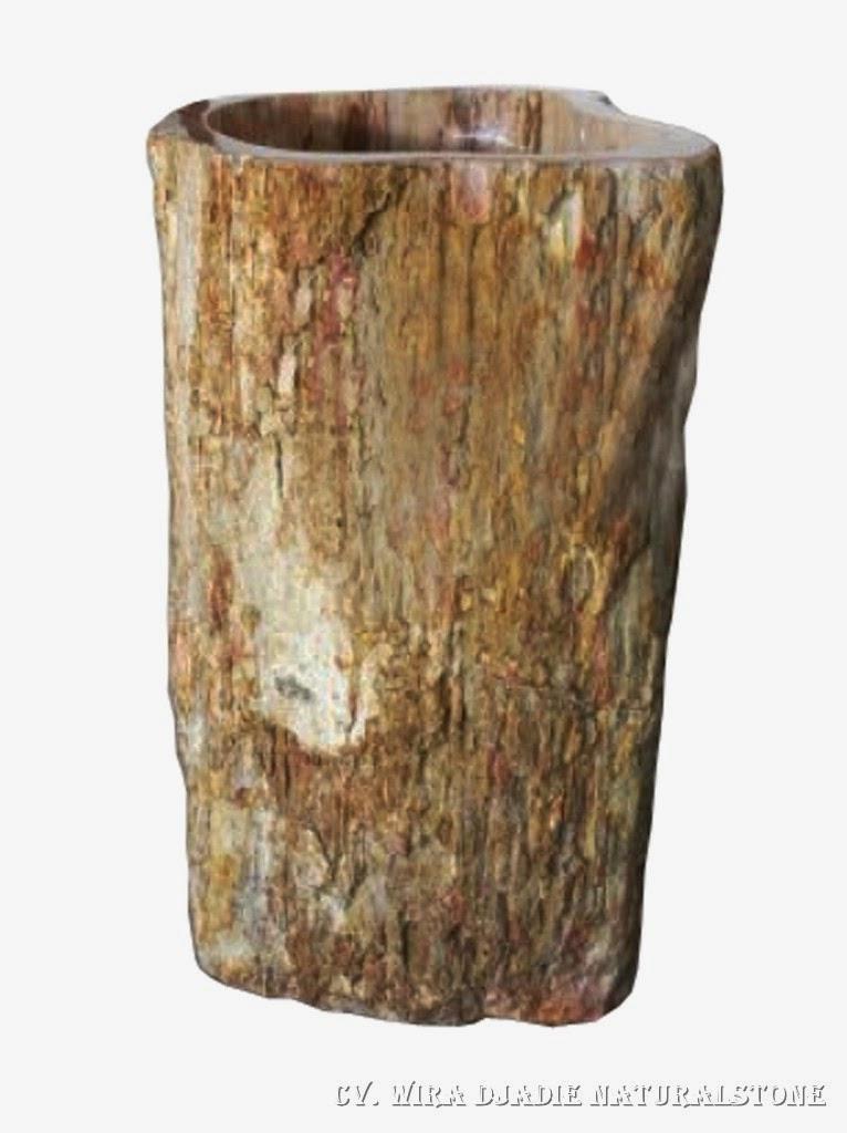 Wood Pedestal Sink : Petrified Wood Pedestal Sink