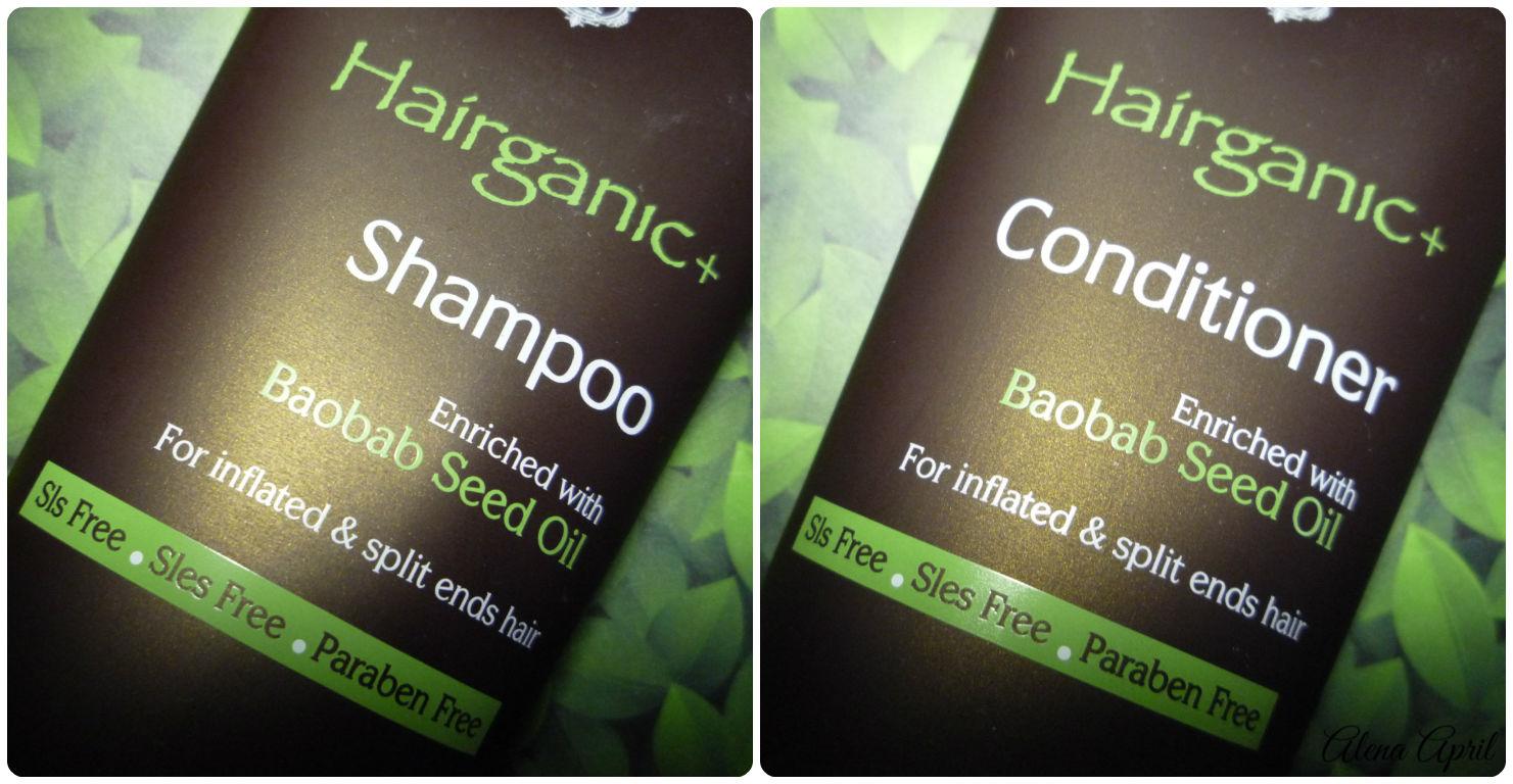 Шампунь и кондиционер с маслом баобаба Hairganic+ для непослушных и секущихся волос от Egomania Professional Collection, отзыв