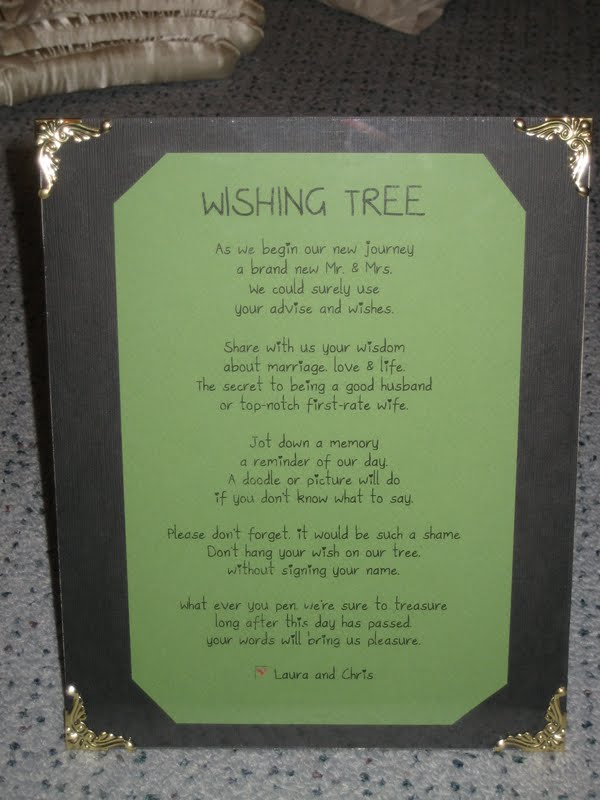 Baby Shower Wish Tree Poem http://sayingidoinnewyork.blogspot.com/2011/05/honeymoon-series-wishing-tree.html