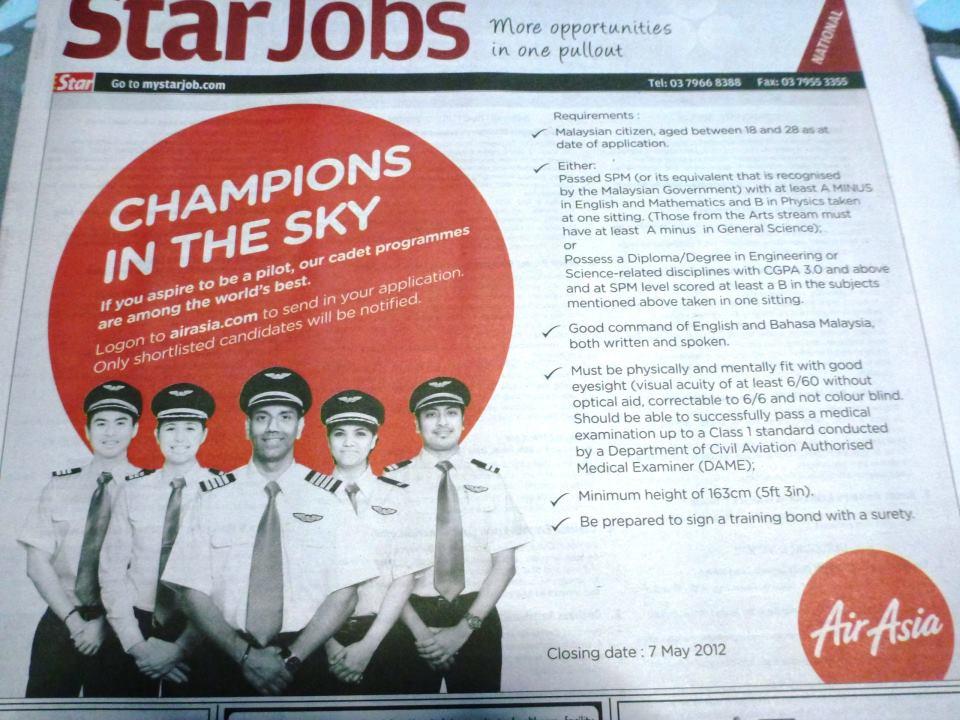 Fly Gosh Cadet Pilot Air Asia