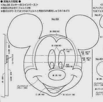Moldes Mickey e Minnie de feltro