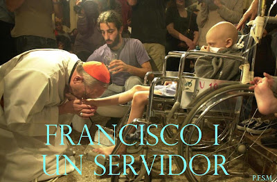 Cardinal Bergoglio Washes and Kisses Aids Victims' Feet