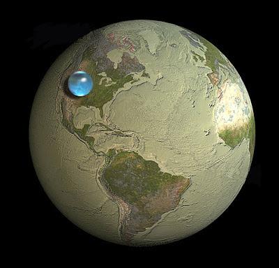 Beginilah jadinya jika seluruh air di Bumi dikumpulkan!