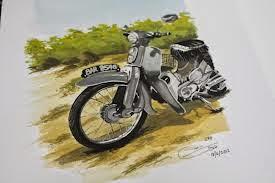 "On the joy of ""motor bebek"" road to Karang Sewu."