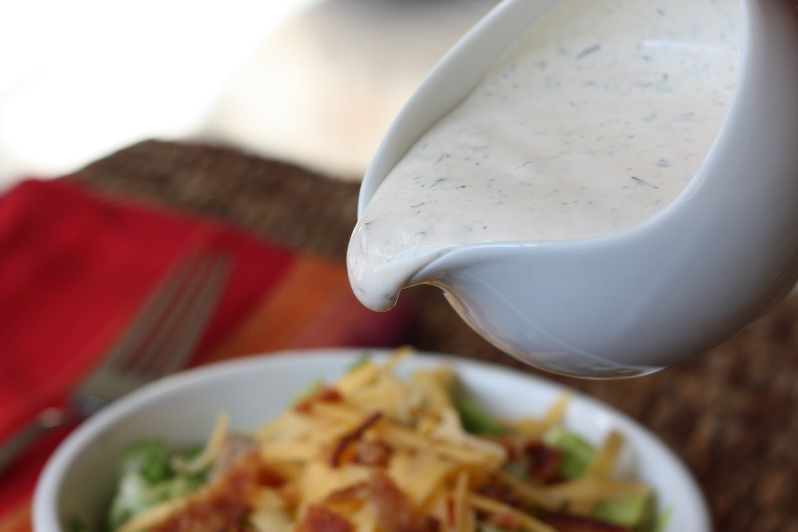 ... In The Kitchen: Chopped Salad with Bacon Chipotle Ranch Dressing