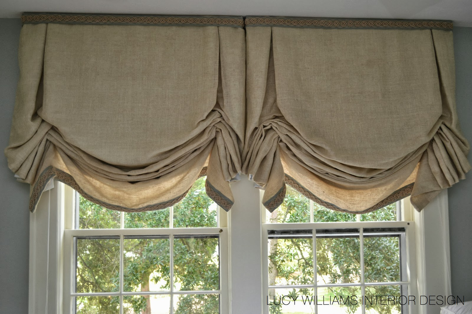 Lucy williams interior design blog before and after for Shades and window treatments