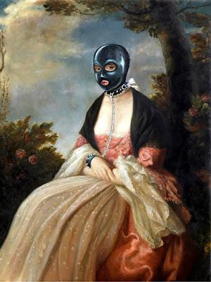 banksy gimp lady woman mask hood bdsm