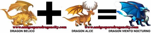 como hacer el dragon viento nocturno en dragon city