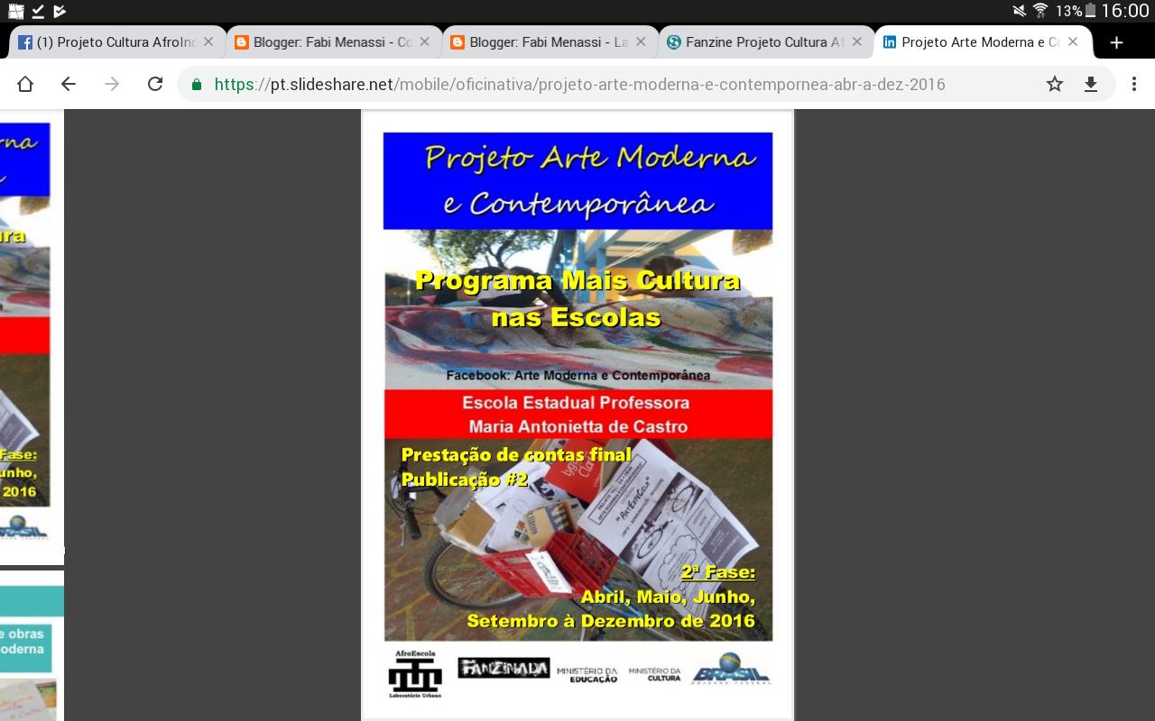 Fanzine Arte Moderna e Contemporânea