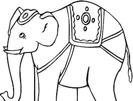 Baby Elephant Jungle Book Coloring Page
