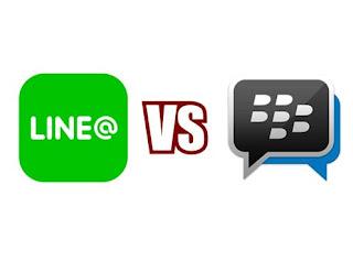 LINE@ dibandingkan dengan BBM untuk toko online