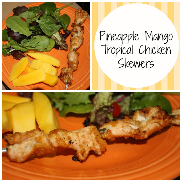 Skinny Jeans: Pineapple Mango Tropical Chicken Skewers