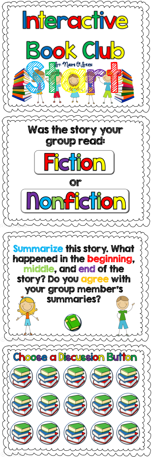 http://www.teacherspayteachers.com/Product/Interactive-Book-Club-for-Fiction-and-Nonfiction-Books-764449
