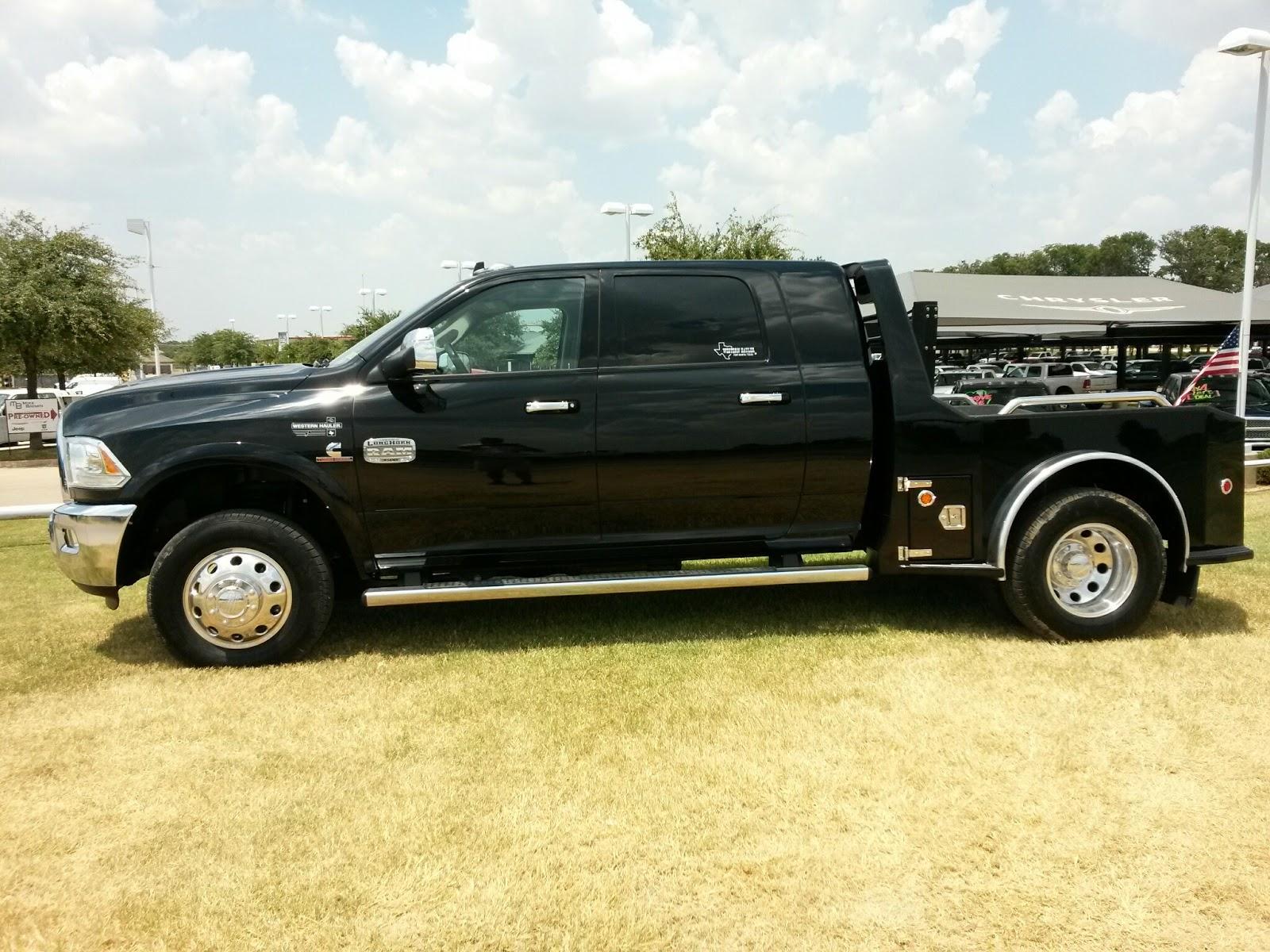 black  ram  laramie longhorn mega cab  western hauler flatbed tdy sales
