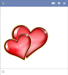 Two hearts Facebook emoticons