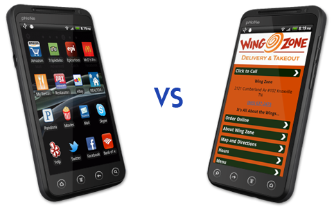 mobile app versus mobile website